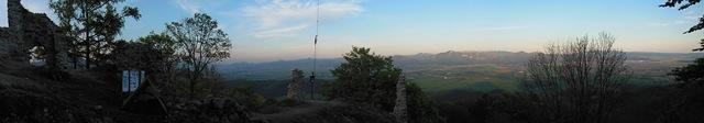 Panoráma z hradu Zniev
